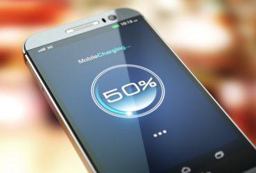 Gebruikt batterij smartphone loopt snel leeg
